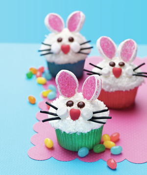 Easter Bunny Face Cupcakes From All You