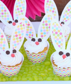 Easter Bunny Cupcakes from Giggles Galore and Dimple Prints