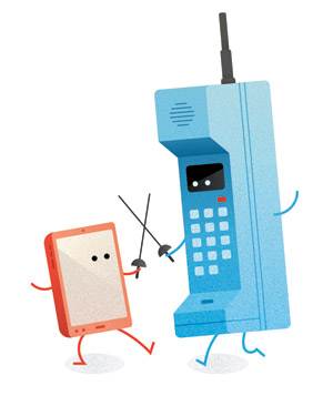 Cordless phone fencing with smartphone