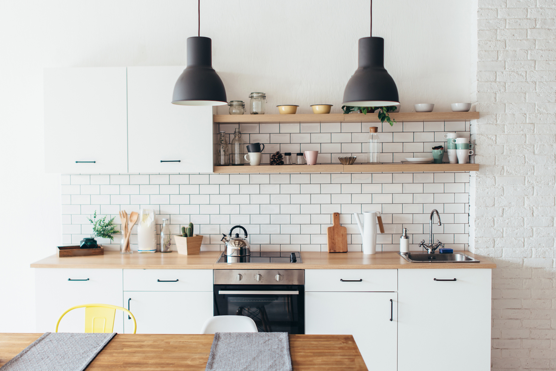 Beautiful Clean Kitchen with open shelving
