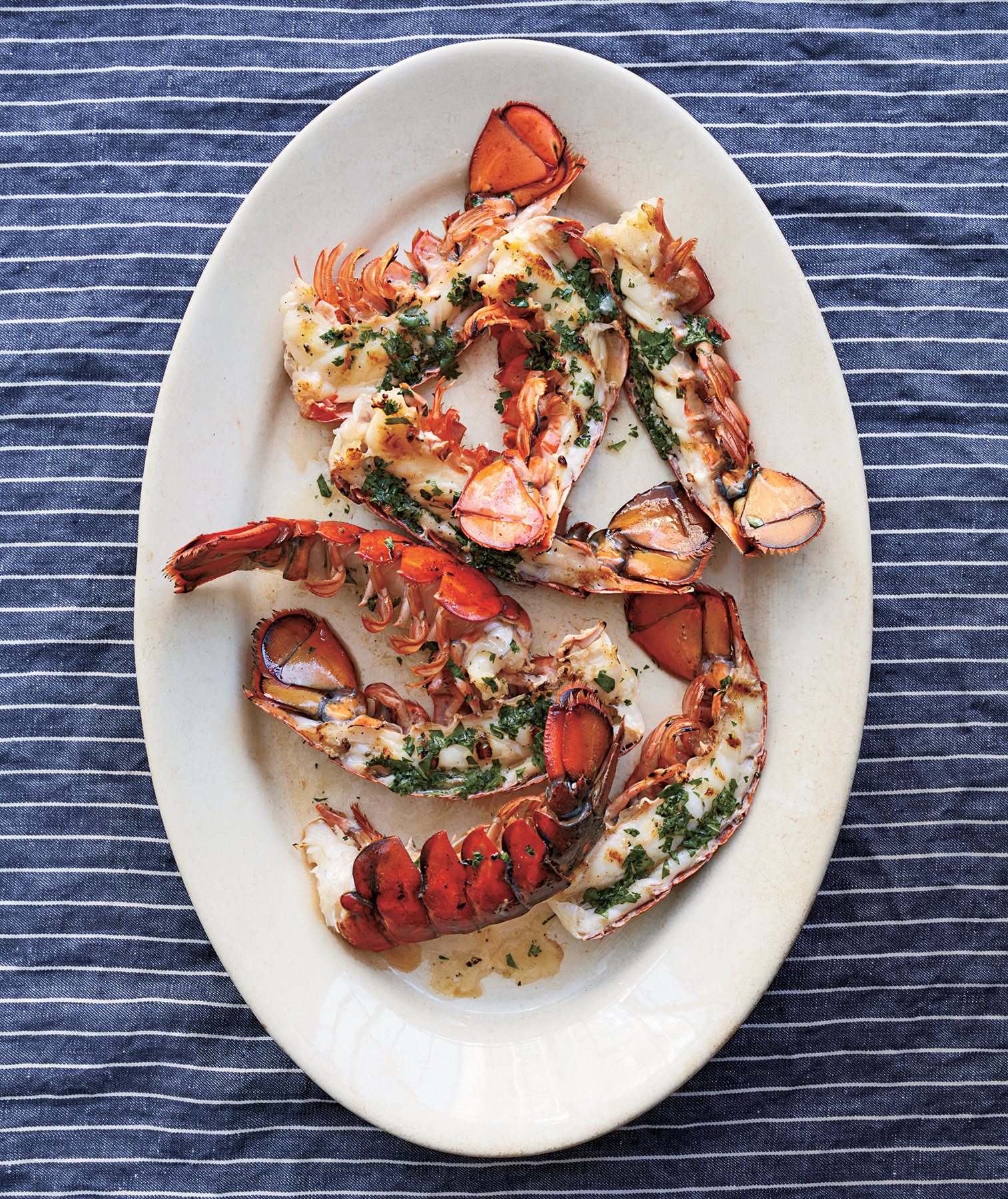 Lobster Tails With Cilantro Butter