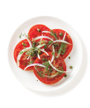 Tomatoes with Dill, Capers, and Onion