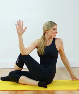 Seated spinal twist pose