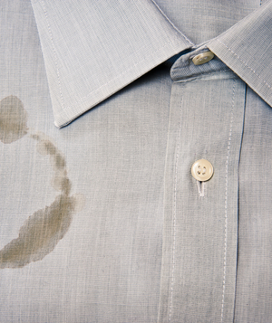 Shirt with stain