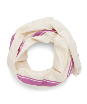 Cuyana/Real Simple Collection Striped Silk Scarf