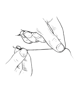 Tying a knot step 3