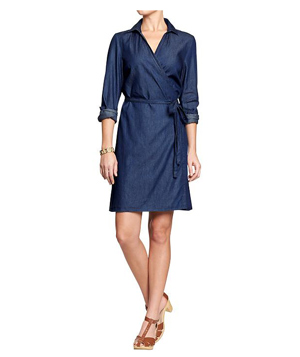 Old Navy Chambray Dress Dark Wash
