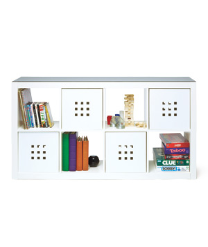 Kallax Bookshelf and Lekman Boxes