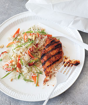 Red Curry Chicken With Rice Salad