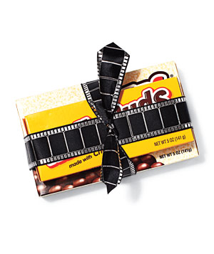 Milk Duds with filmstrip ribbon