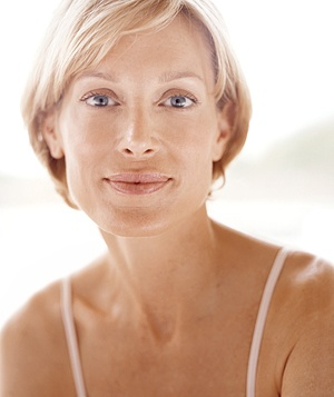 Woman with mature skin