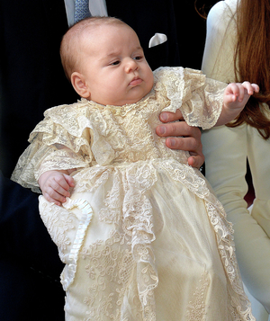 Prince George in his christening gown