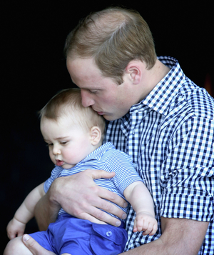 Duke of Cambridge with Prince George