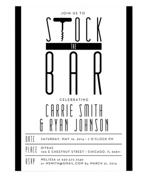 Vintage Black and White - Stock the Bar, Couples Wedding Shower