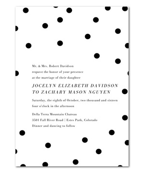 Dotted Beauty Wedding Invitations