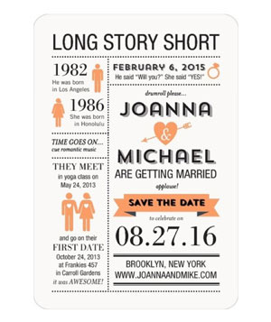 Long Story Short Save the Dates