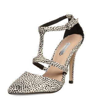Dorothy Perkins Printed High T-Bar Court Shoes