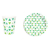 Green Triangles Tableware Collection