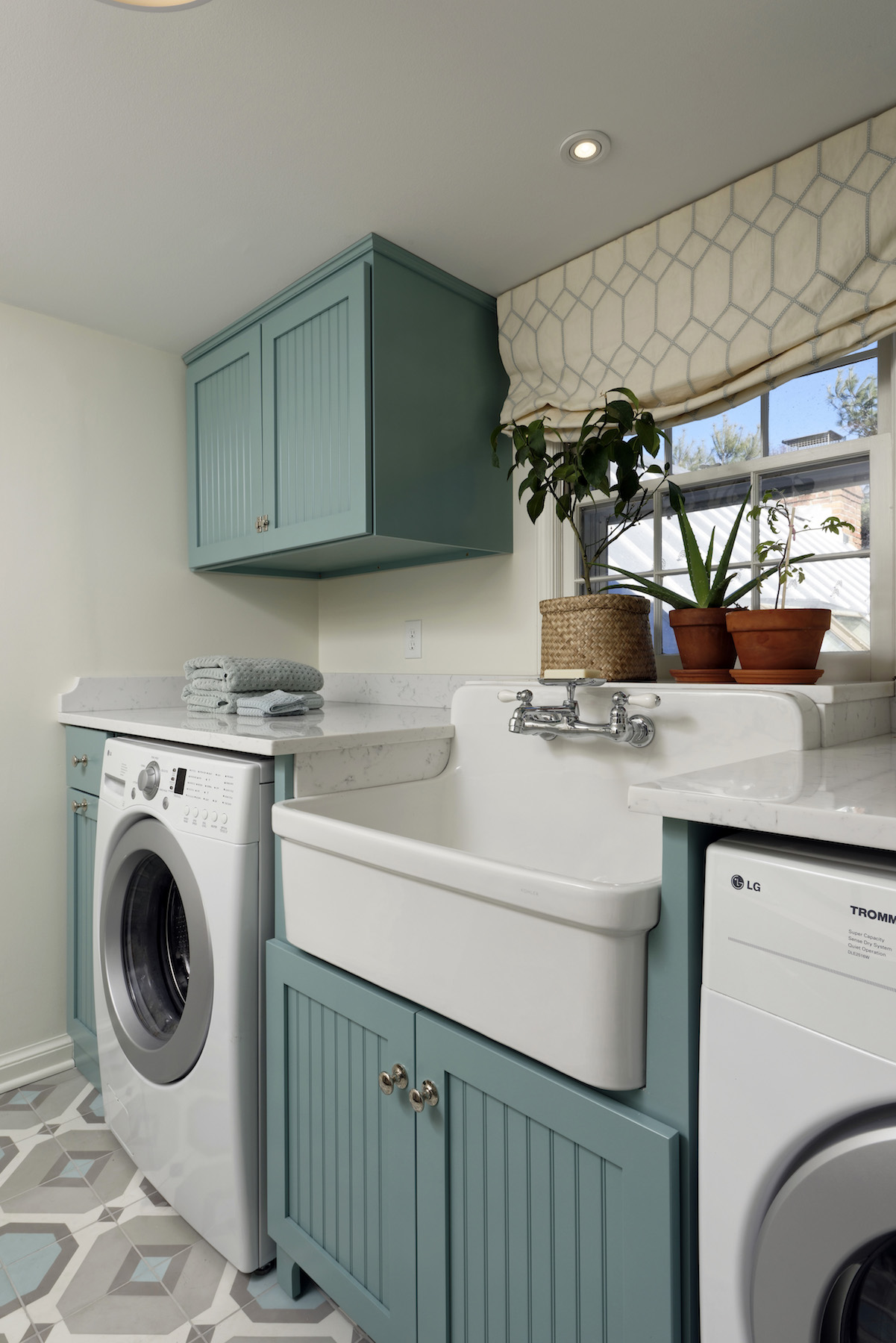 Laundry Room Makeover Reveal After