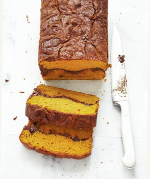 Pumpkin Bread with Chocolate Swirl