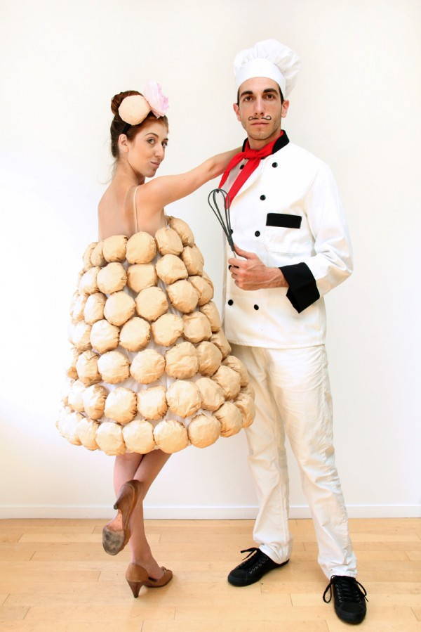 French chef and croquembouche costume