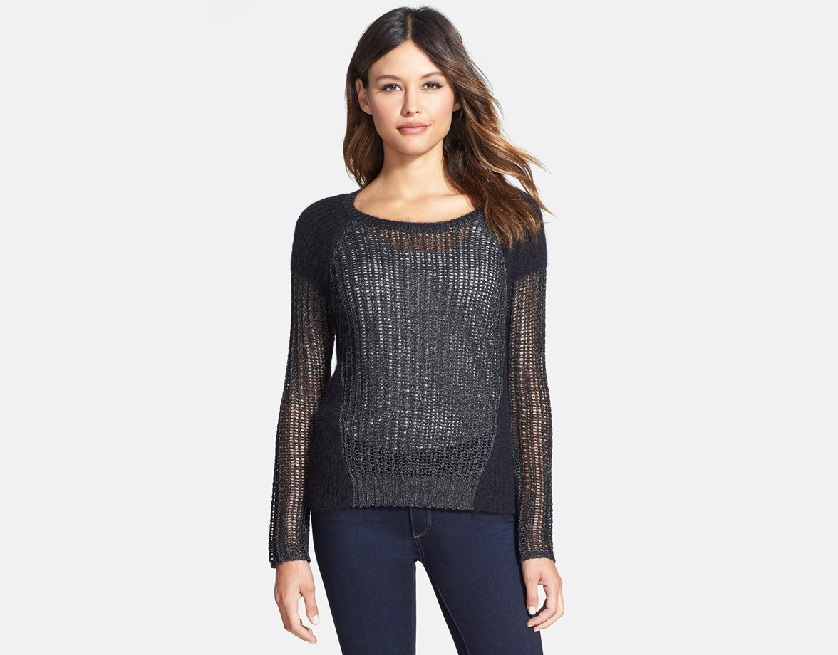 Tarnished' Ballet Neck Layering Sweater