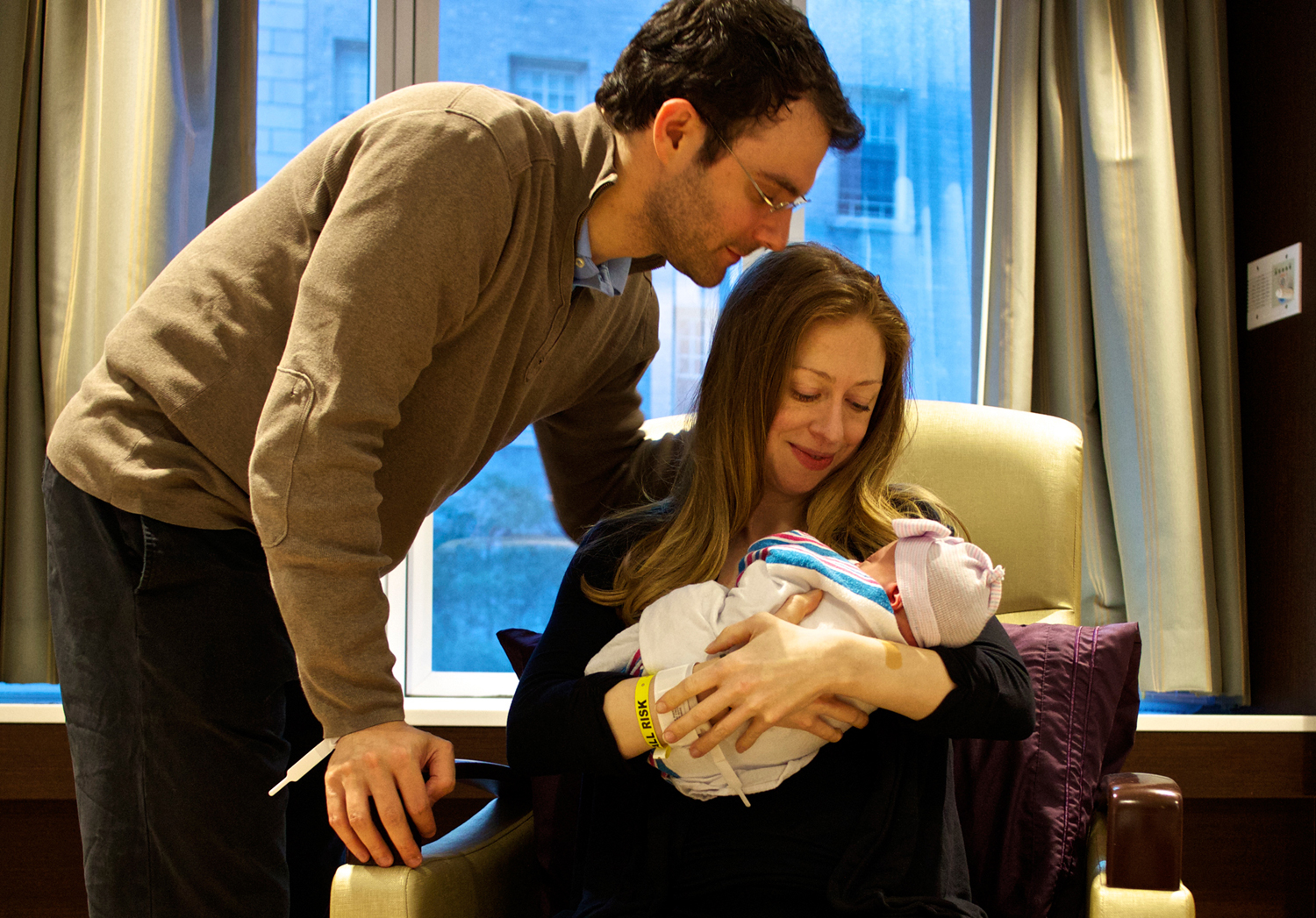 Chelsea Clinton and Daughter Charlotte