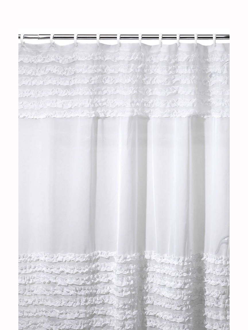 Frills and Grace Shower Curtain