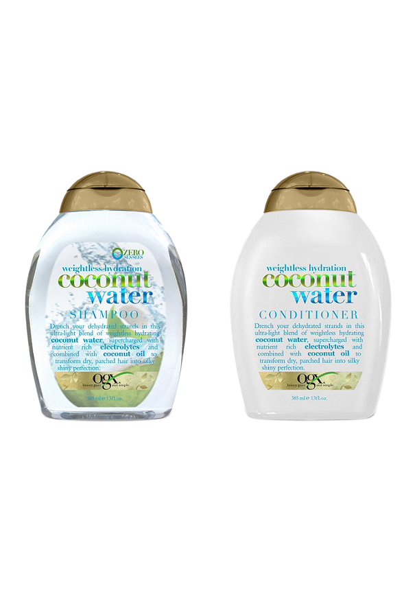 OGX Weightless Hydration Coconut Water Shampoo and Conditioner
