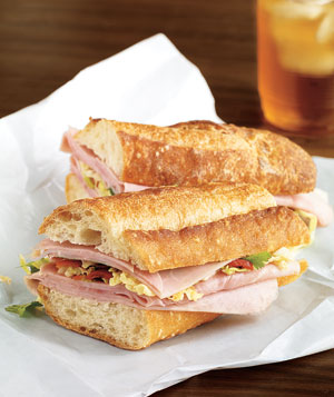 Ham Sandwich With Sweet and Tangy Slaw