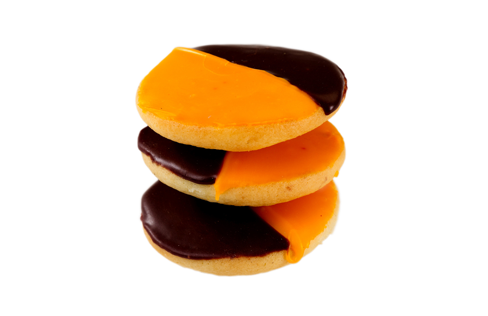 William Greenberg Desserts Mini Orange and Black Cookies