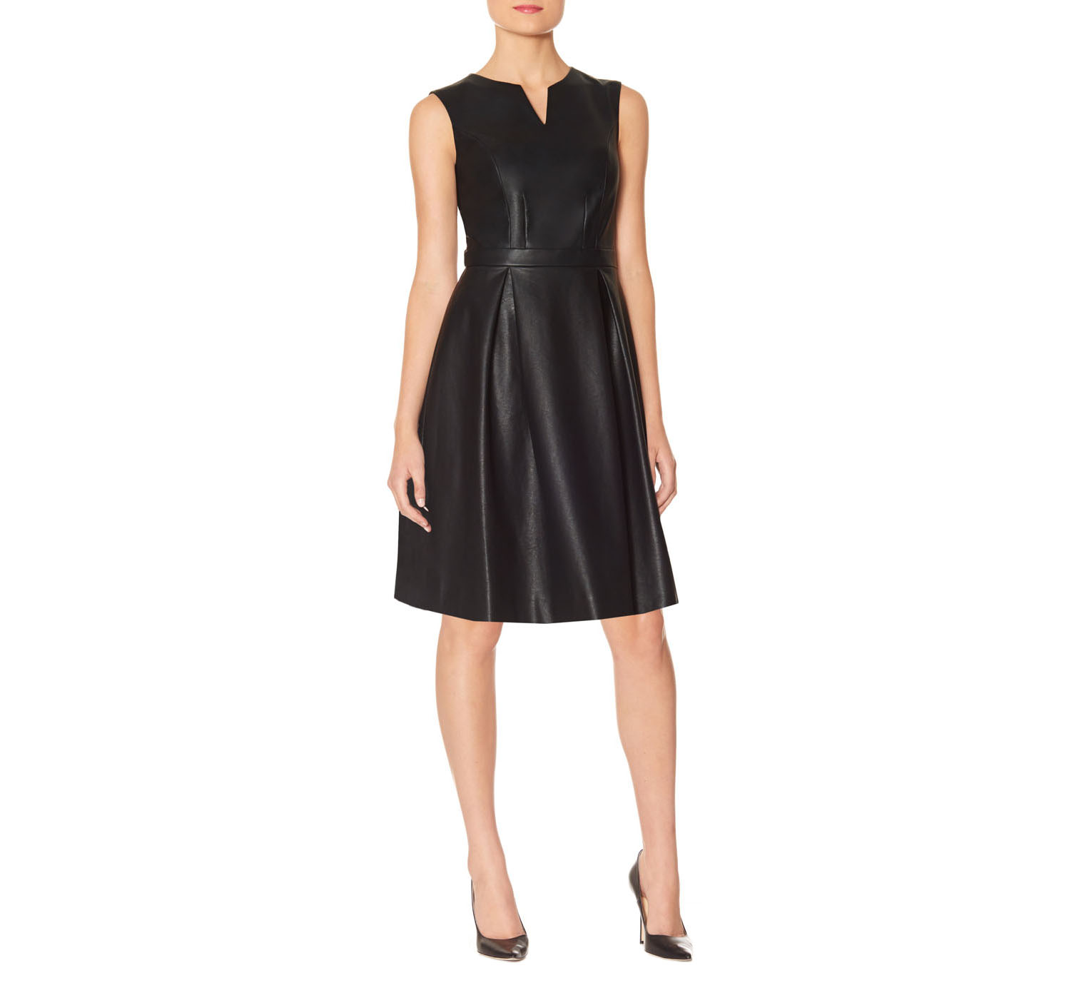 The Limited Faux-Leather Dress