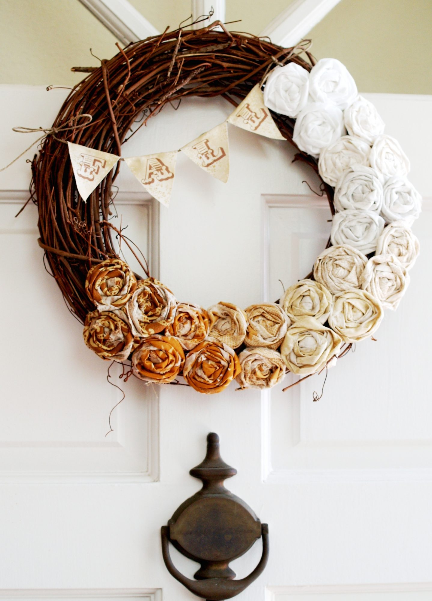 ombre rosette wreath