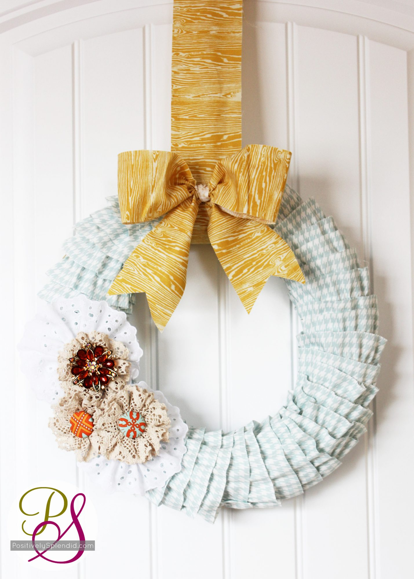 ruffled wreath