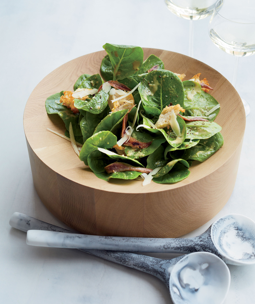 Creamy Caesar Salad with Torn Croutons, April Bloomfield