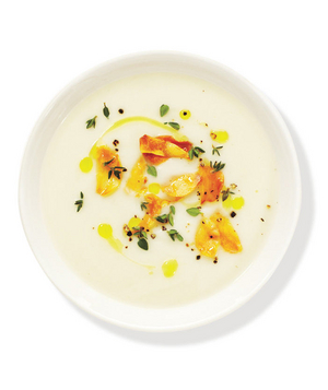 Cauliflower Soup With Toasted Garlic