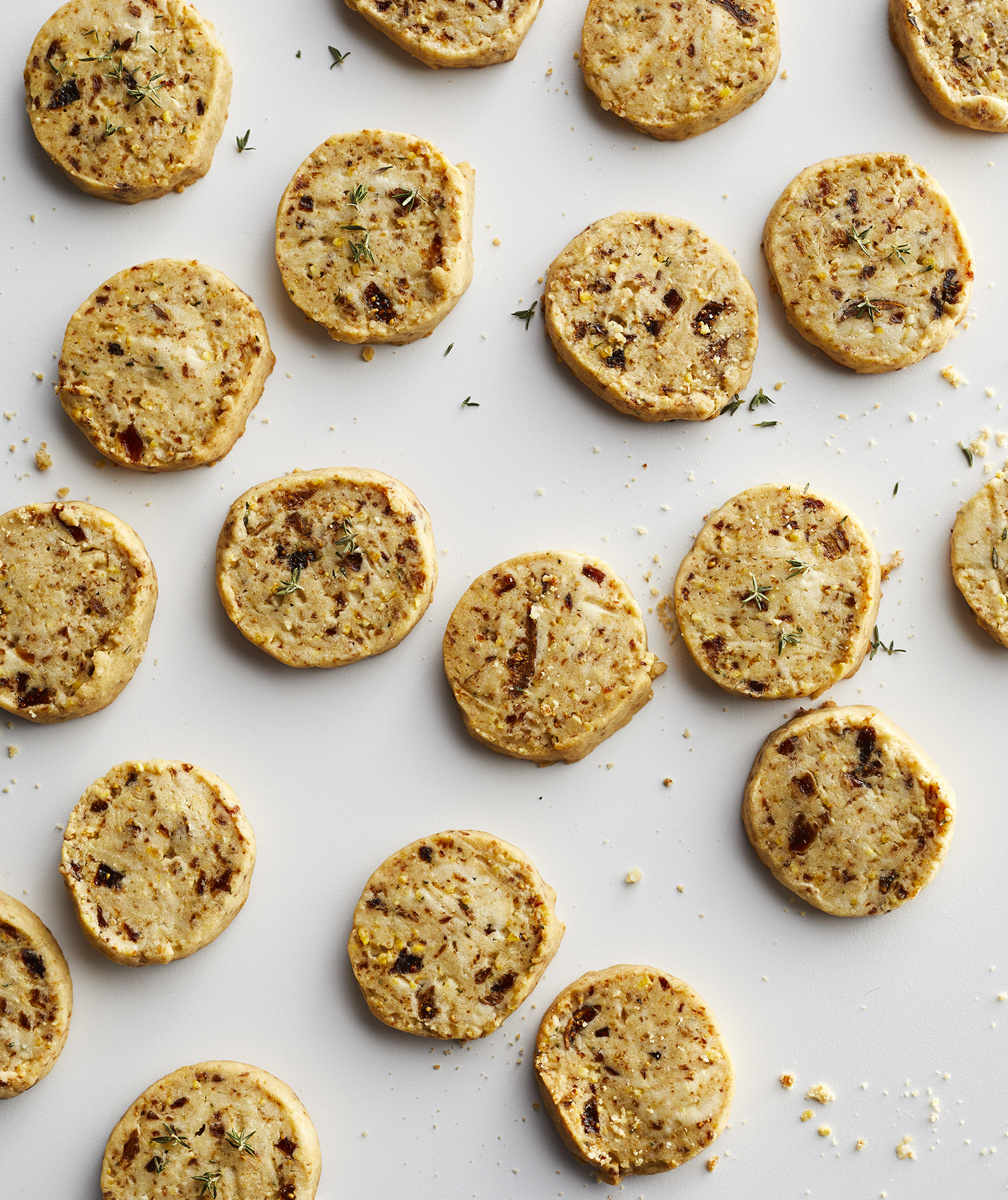 Cornmeal, Fig, and Thyme Shortbread