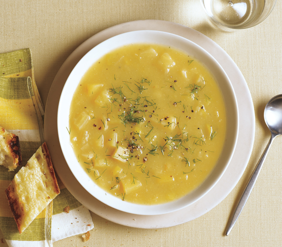 Parsnip and Fennel Soup with Dill