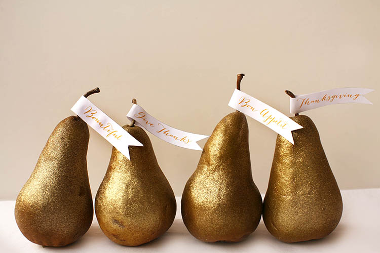 Thanksgiving Pear Place Cards