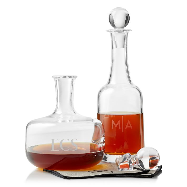 Cute Gifts for Girlfriend: Monogrammed Wine Decanter from Mark and Graham