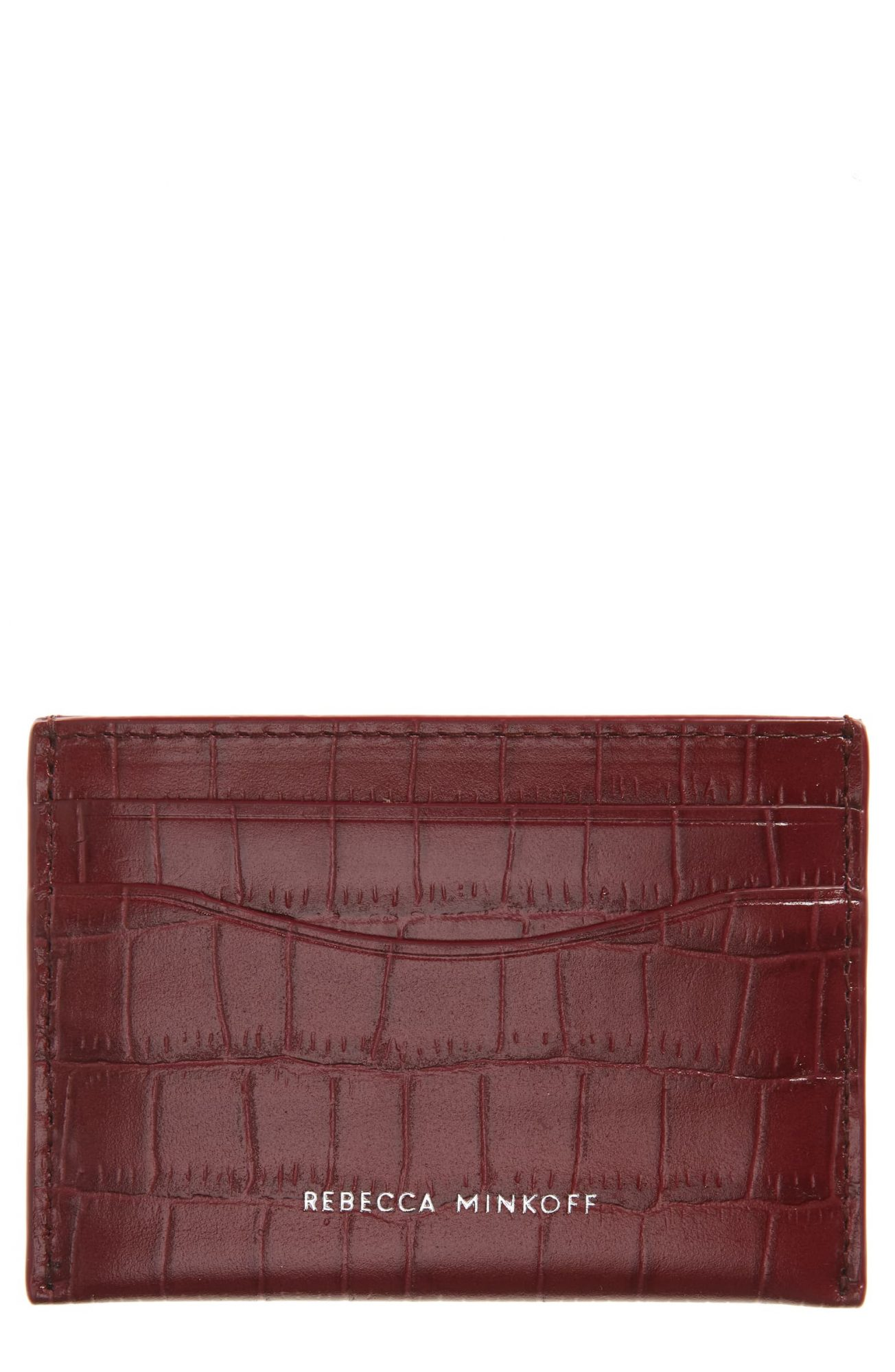 Gift Ideas for Girlfriend: Rebecca Minkoff Croc Embossed Leather Card Case