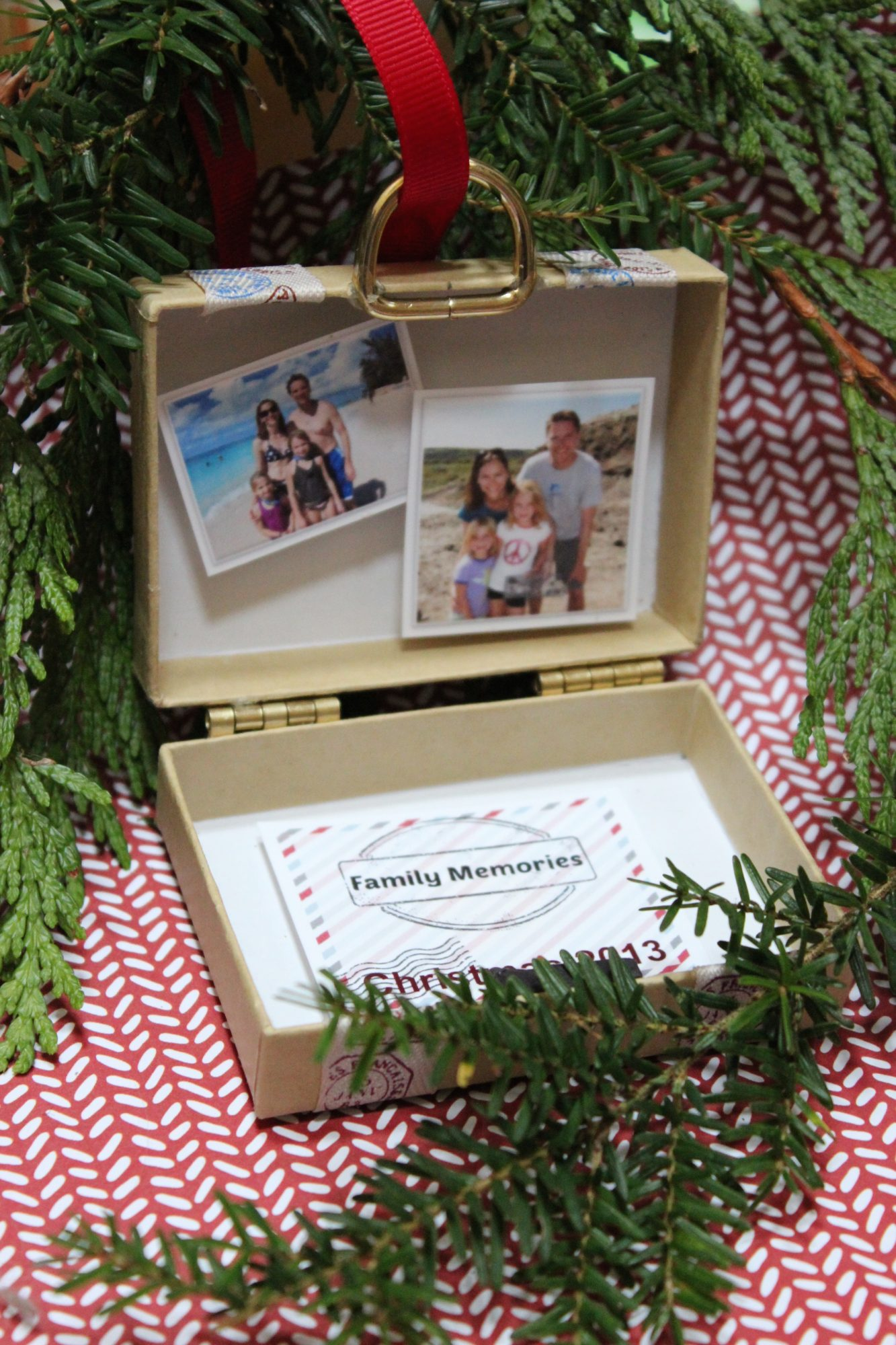 Travel Suitcase Ornament