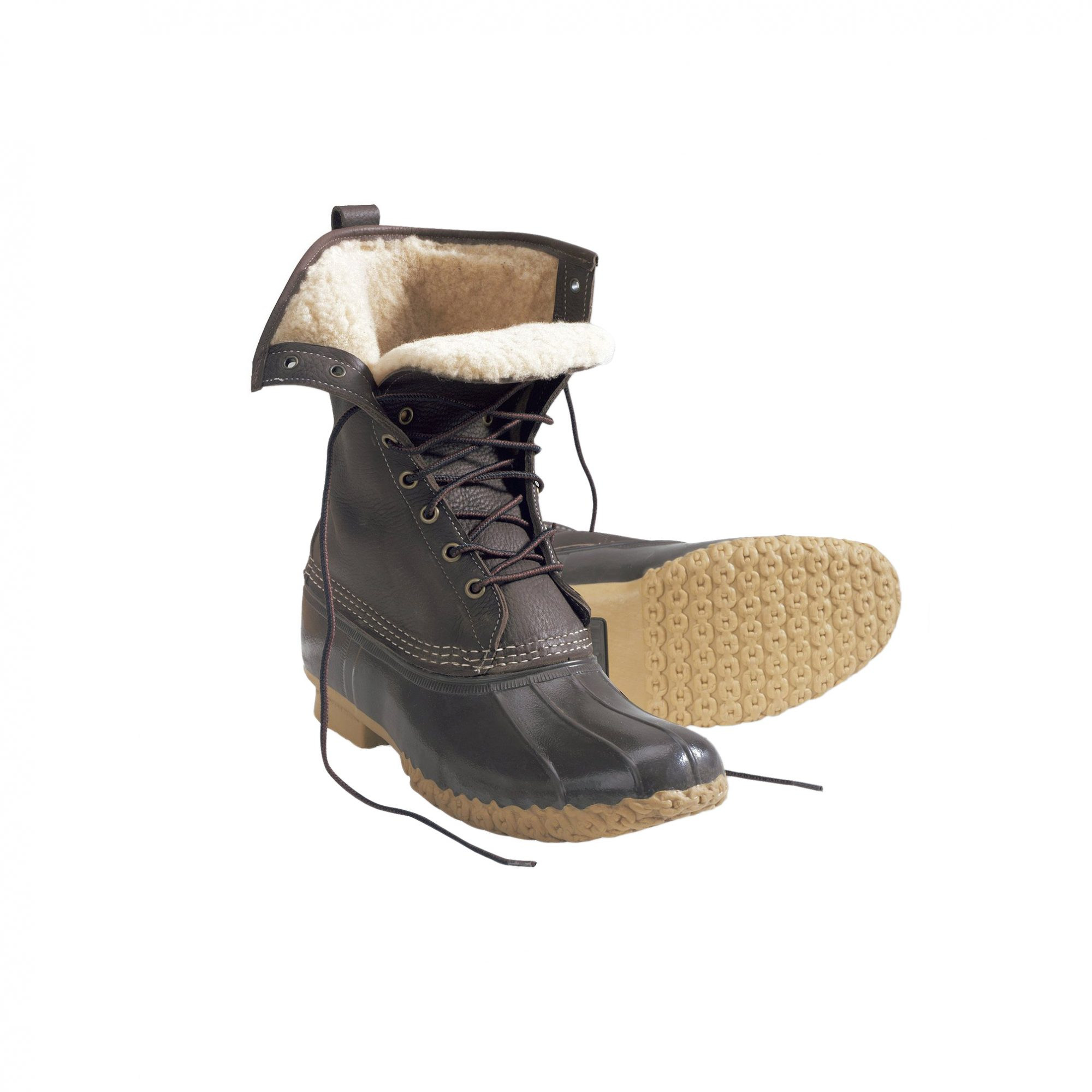 """L.L. Bean 10"""" Shearling-Lined Boots"""