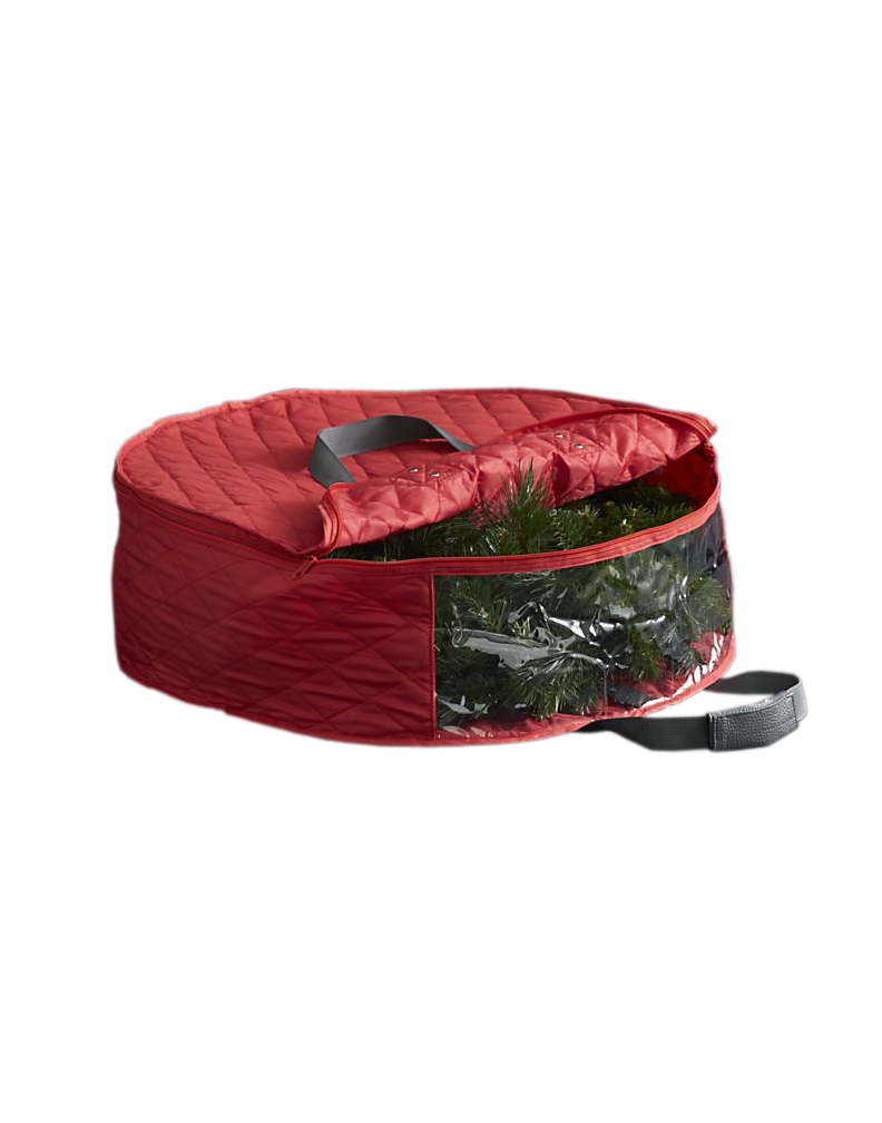 Quilted Red Wreath Bag