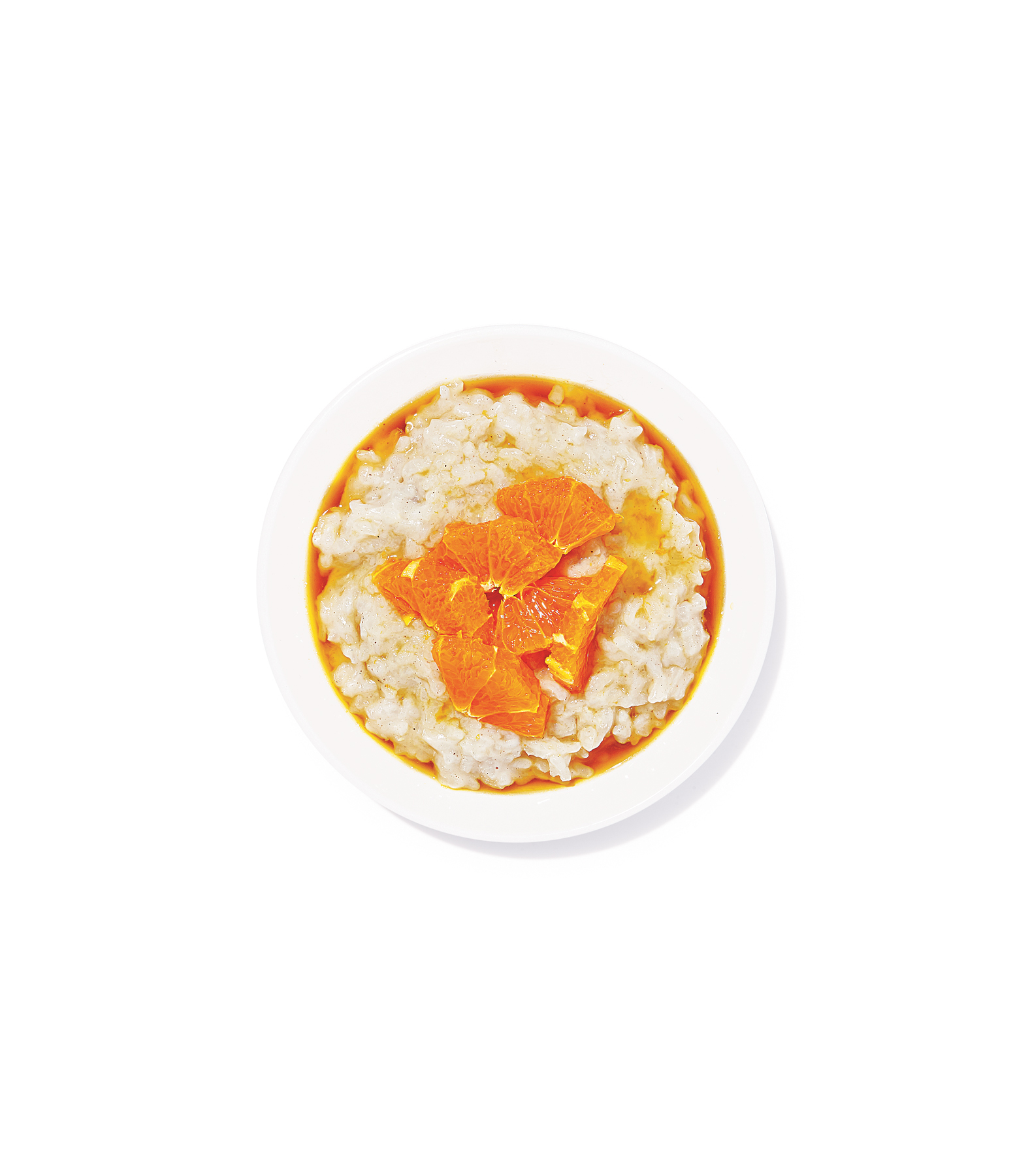 Coconut Rice Pudding With Macerated Clementines