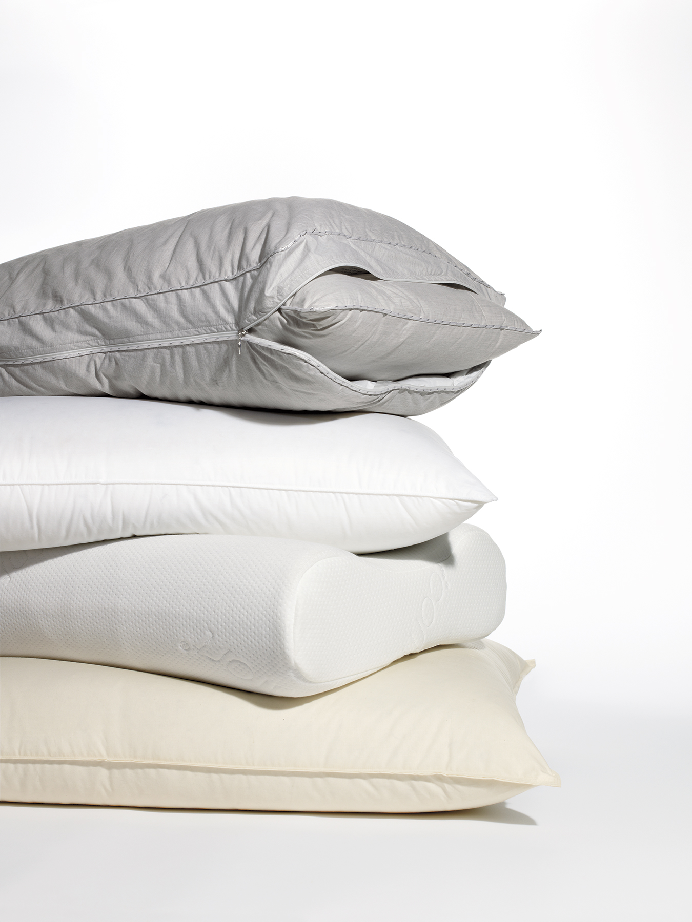 Stack of four pillows