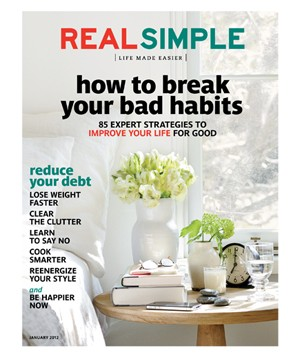 January 2012 cover image of bedroom side table
