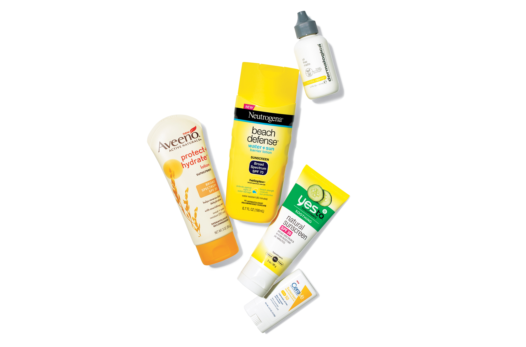 Various sunscreens