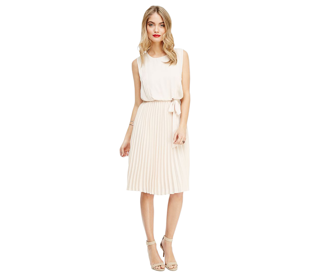 Forever 21 Pleated Chiffon Dress