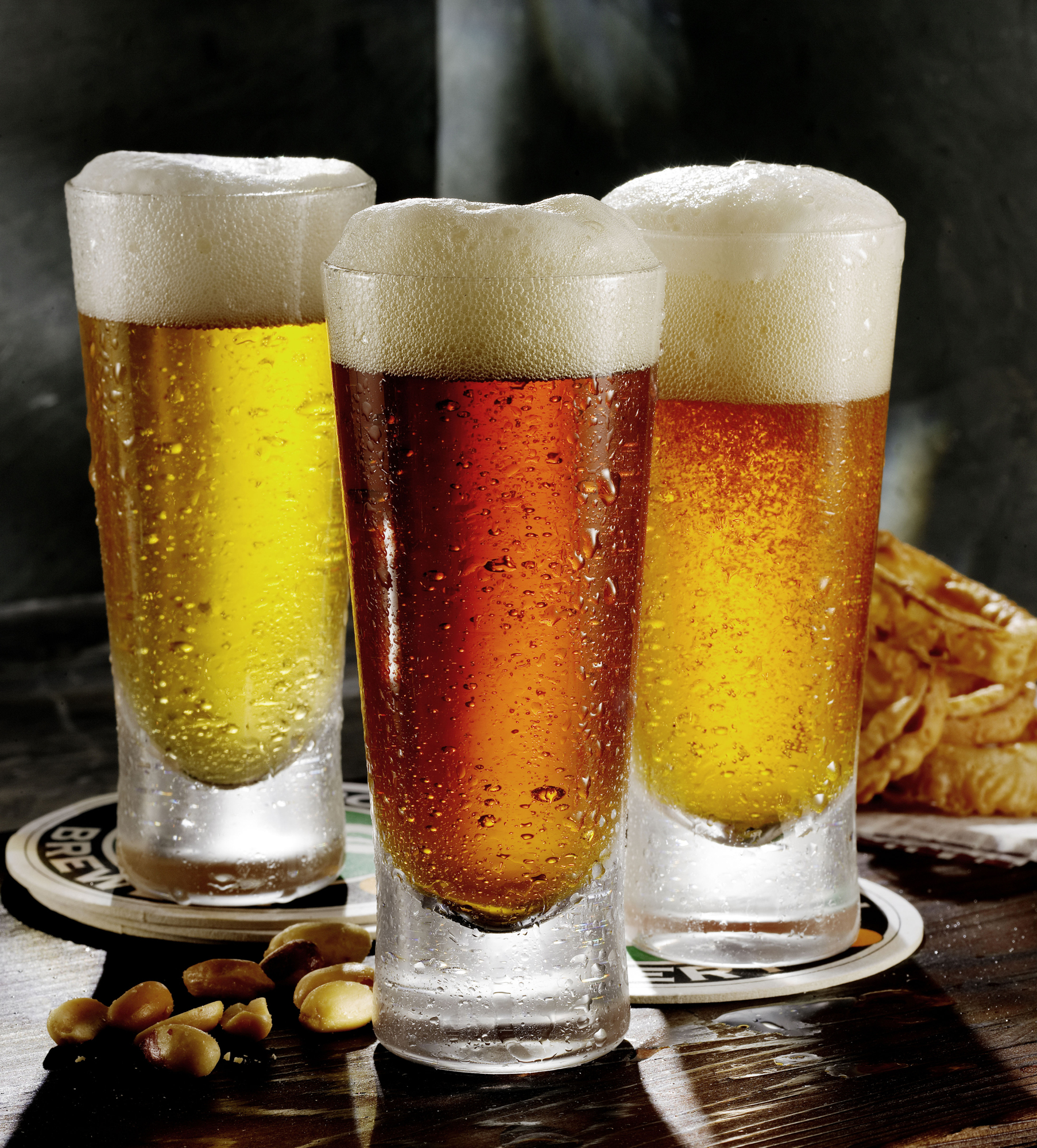 Pilsner, ale and lager